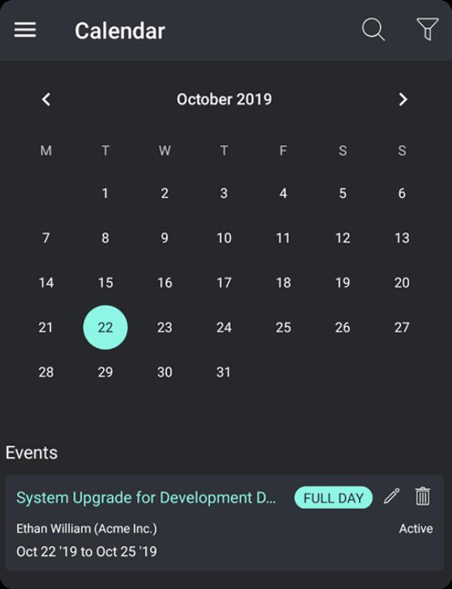 Manage IT Support Tasks on a Calendar