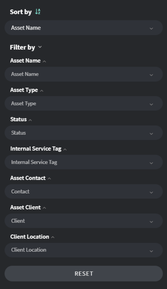 Custom Asset Filters