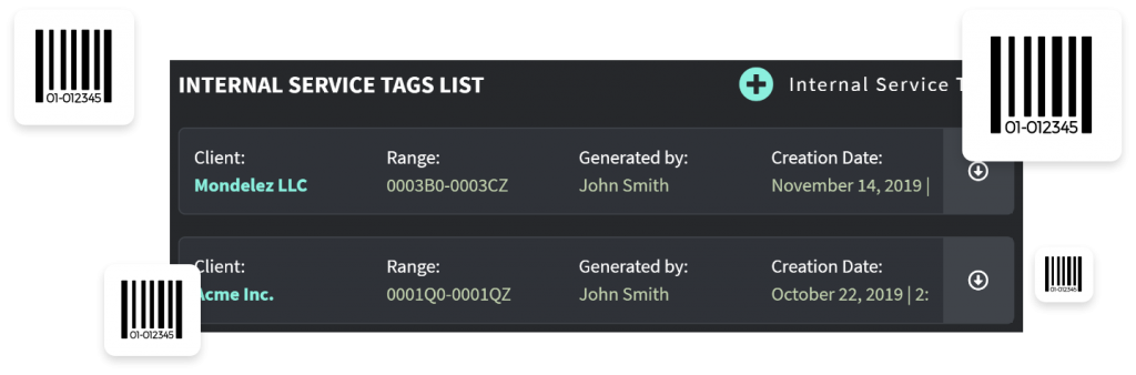 Manage Internal Service Tags
